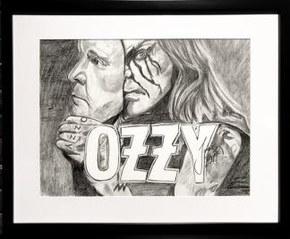 Teckning_Ozzy Osborn - Teckning Ozzy Osborn svart ram
