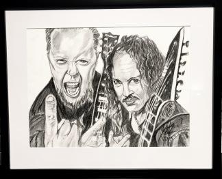 Teckning_Metallica - Teckning Metallica svart ram