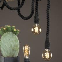 Lampa/Rep Svart 150cm