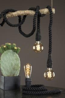 Lampa/Rep Svart 150cm - Lampa/Rep Svart 150cm
