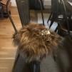 Stolsdyna långhårigt fårskinn - Stolsdyna långhårigt brunt fårskinn