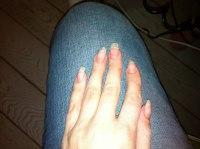 Så här ser mina egna naglar ut när det inte är skydd på dom