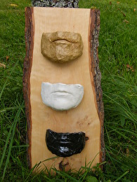 Trä/keramik/papier maché/Mask-i-rad - Privat