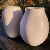 Rosa stora vaser