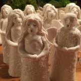 Ljussläckare änglar porslin