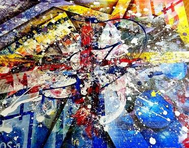 En av mina abstrakta tavlor (målad 2019)