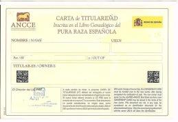 """Äldre typ av ägarkort - """"CARTA DE TITULARIDAD"""""""