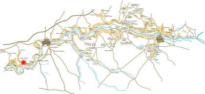 Vid pricken finner du staden Charly-sur-marne