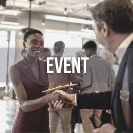 I nätverket erbjuds du 8 event av olika slag per år