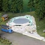 Ett Folkets park i sin linda, husmodell finns