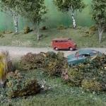 Bilolycka vid naturdammen