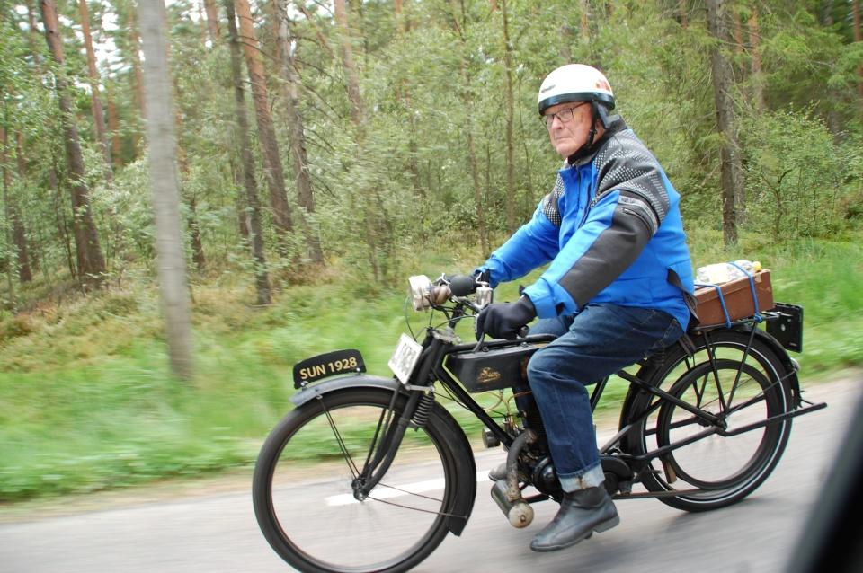 Rallyts minsta cykel Sun 147 cc Gert Johansson.