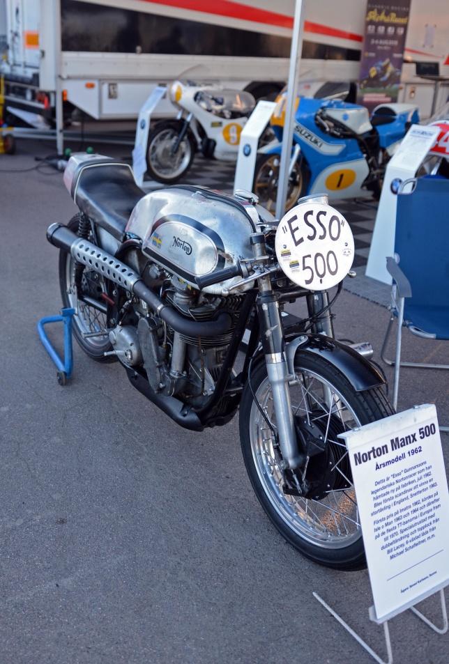 ESSOs Norton Manx -62 kördes av Erik Stenlund.
