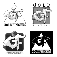 Teknik: Illustrator. Kund: Gold Fingers (Musik producent)