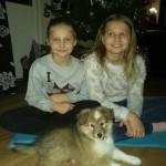 Lapplandia's Jack O' Lantern Allan firar jul med sina tjejer