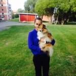 Emmy med sin bästa vän, Kiwi