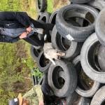 Lexie 4 mån testar däcken