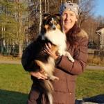Assar med sin nya matte Margareta Maggan Olsson