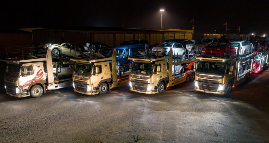 Hagmans biltransporter med chaufförer