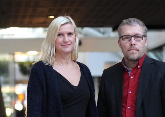 Anna Lexelius tillsammans med förbundets ordförande Johan Svensk efter utnämningen.