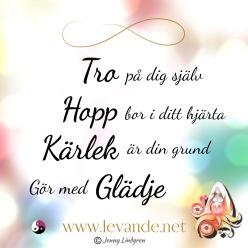tro hopp kärlek