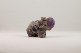 Ametist elefant | trumlade spets stav kristaller slipade stenar healing stenar chakra stenar - Ca 50g
