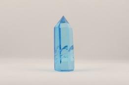 Aqua Aura stav/spets   trumlade spets stav kristaller slipade stenar healing stenar chakra stenar - Priser mellan ca 84-315kr/st, gram ca 20-82g