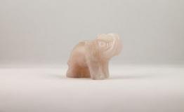 Rosenkvarts elefant | trumlade spets stav kristaller slipade stenar healing stenar chakra stenar - Ca 50g