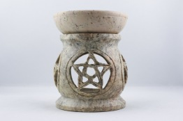 Aromabrännare - Beige Marmor - 358g