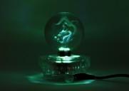 Fluorescerande ljusplatta