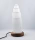 Selenit lampa med fluorescerande ljus - ca 15cm (usb)