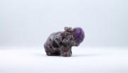 Ametist elefant | trumlade spets stav kristaller slipade stenar healing stenar chakra stenar