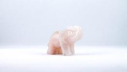 Rosenkvarts elefant | trumlade spets stav kristaller slipade stenar healing stenar chakra stenar - Pris: ca 129kr, Gram: ca 50g