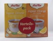 Ingefära & citron och Ingefära & apelsin te (eko)