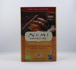 Turmeric/Curcuma three roots te (eko & fairtrade) - Tepåsar 40g