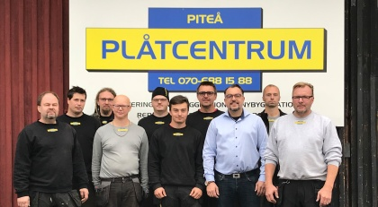 Plåtslagarna på Plåtcentrum i Piteå