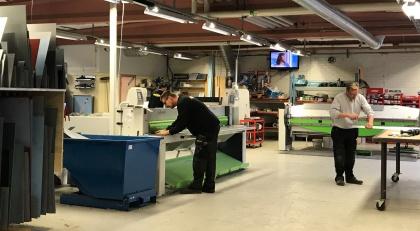 Arbete pågår hos Plåtcentrum i Piteå
