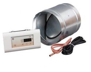Elektronisk styrenhet till uteluft_  MSK med tilluftspjäll och temperaturgivare