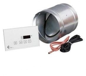 Elektronisk styrenhet till uteluft_ MSK med glas panel_ tilluftspjäll och temperaturgivare
