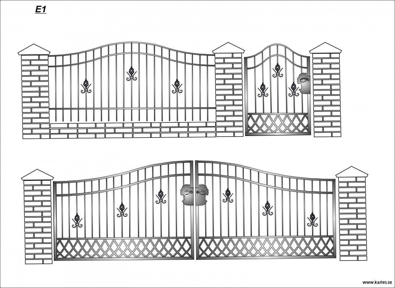VÄLJ MODELL: grind & staket | Smidesvaror och kaminer- Karles
