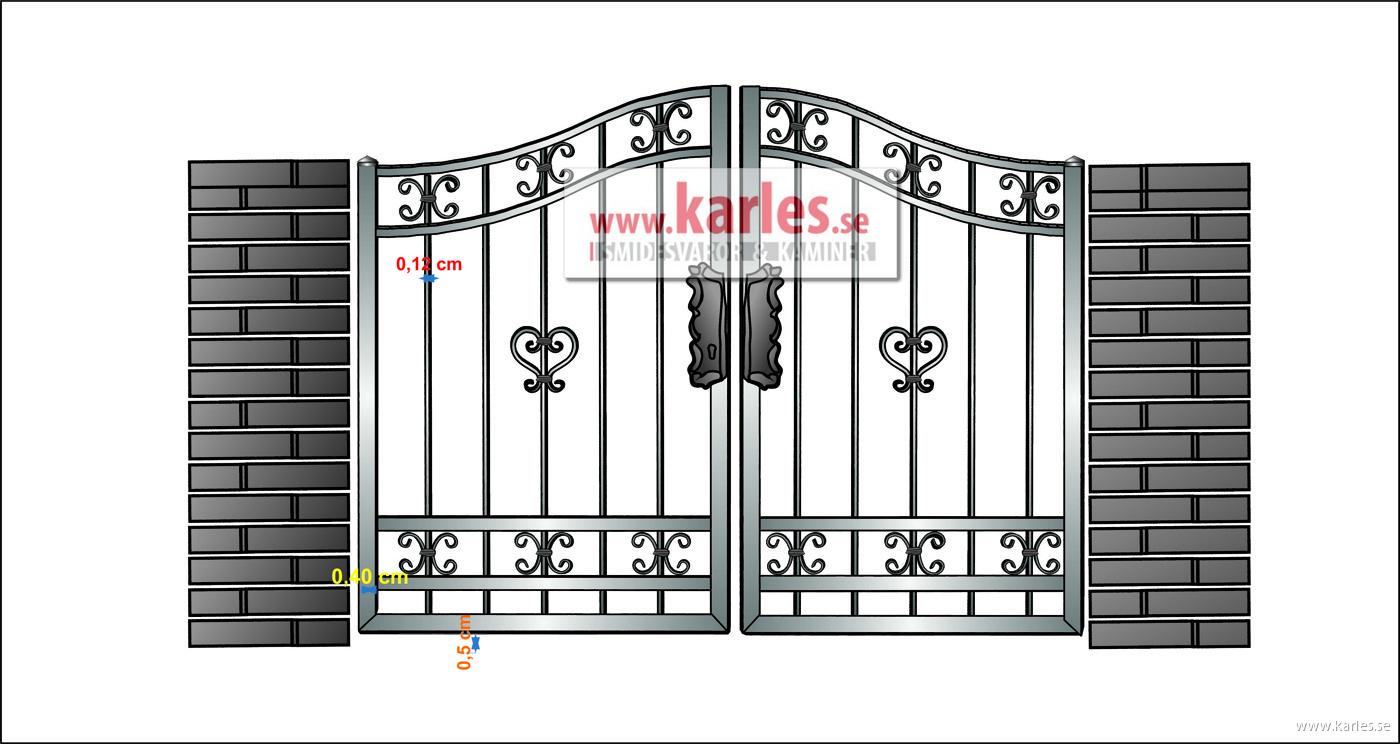 VÄLJ MODELL: grind & staket | Smidesvaror och kaminer- Karles : ritning grind : Inredning