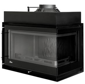 Spisinsats Uniflam PRESTIGE PBS 850 12 kW av gjutjärn, HÖRN HÖGER utan spröjs + EXTERNLUFT