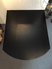 Golvplåt halvrund 80x100cm- svart