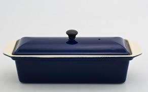 Chasseur gjutjärns UGNSFORM med lock ___ 1,0 liter_ MÖRKBLÅ