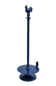 Gjutjärns hushållspappershållare TUPP- emaljerad blå