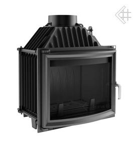 Insatskamin av gjutjärn MAJA 12 kW VÄLVT GLASRUTA + EXTERNLUFT