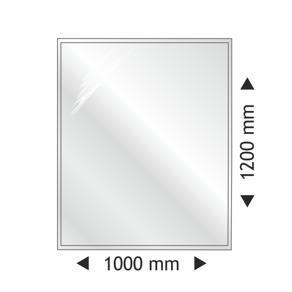 Golvglas i härdat klart glas - rektanguler