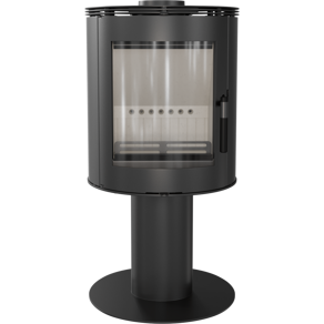 Braskamin ORBIT effekt 5,5-9kW + EXTERNLUFT_ välvt glaslucka_ fotmodell