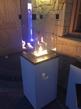 Uteplats gasvärmare PATIO_ GLASPANEL i VIT