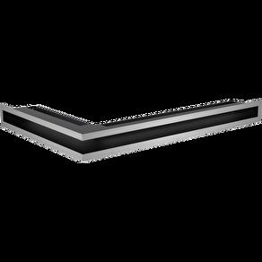 GALLER-LUFT-HÖRN 40x60x6 cm SILVER/ROSTFRI